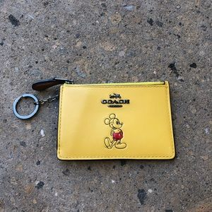 Coach Limited Disney Mickey Mouse ID Card Wallet